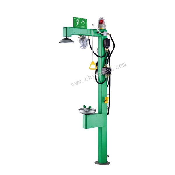 电伴热式紧急冲淋洗眼器WJH0658